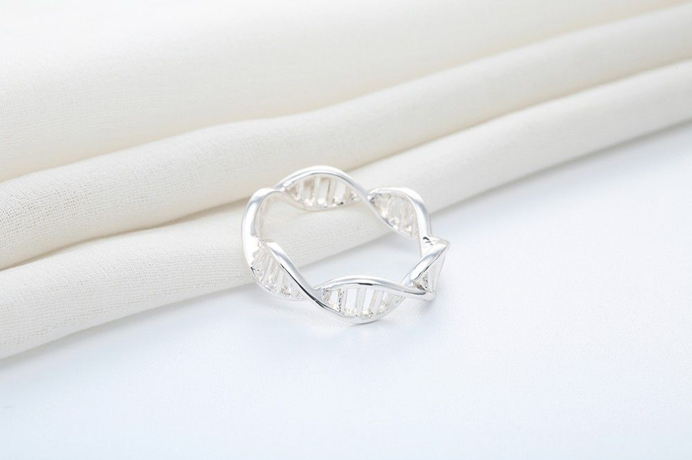 DNS Ring Silber