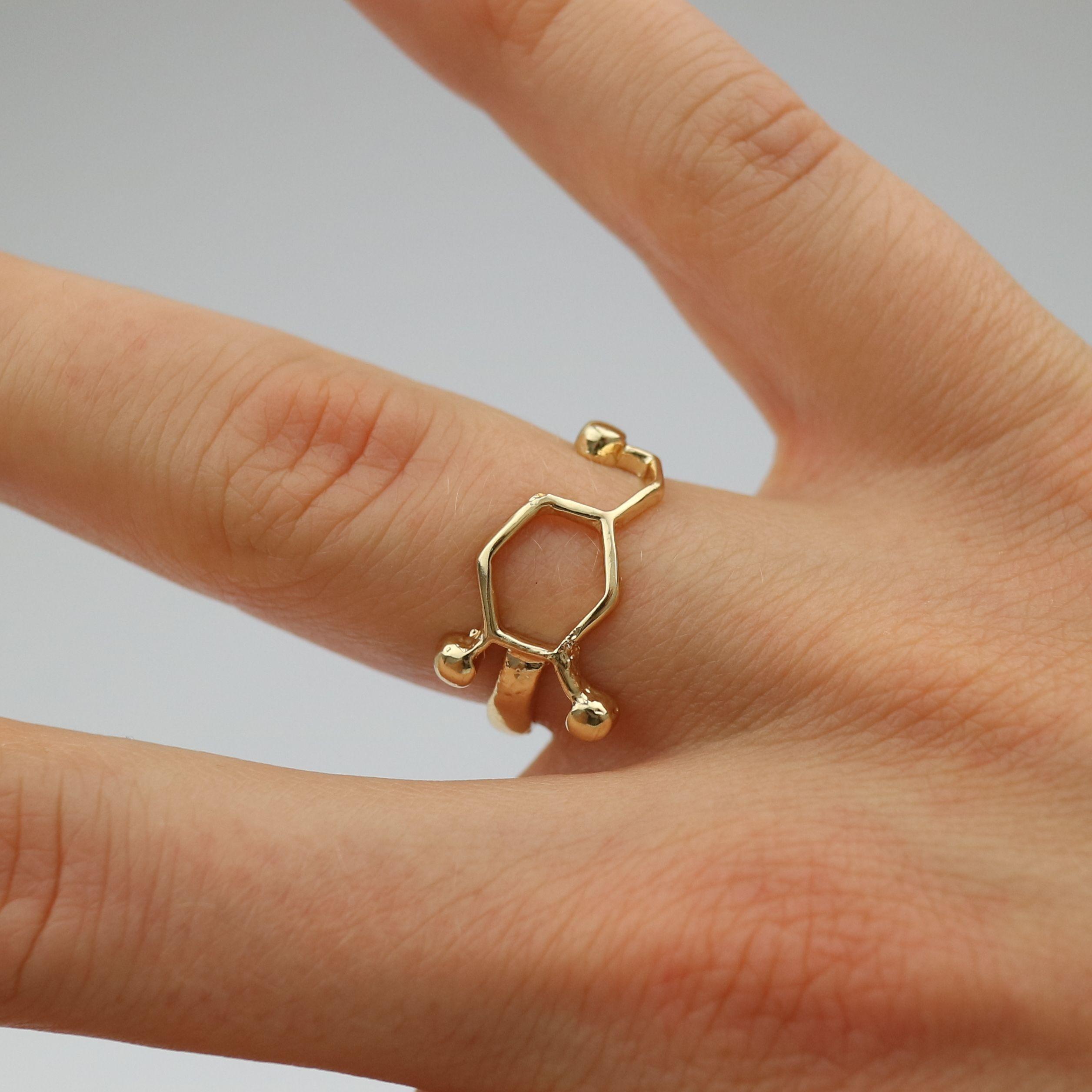 Dopamin Molekülring Gold