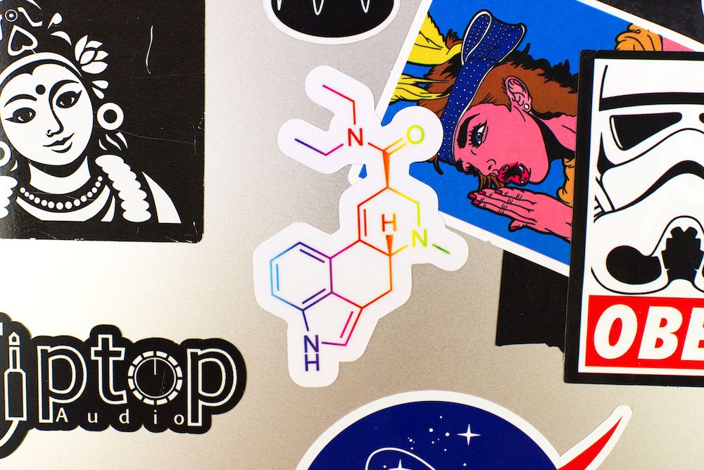 Farbige LSD Sticker Laptop