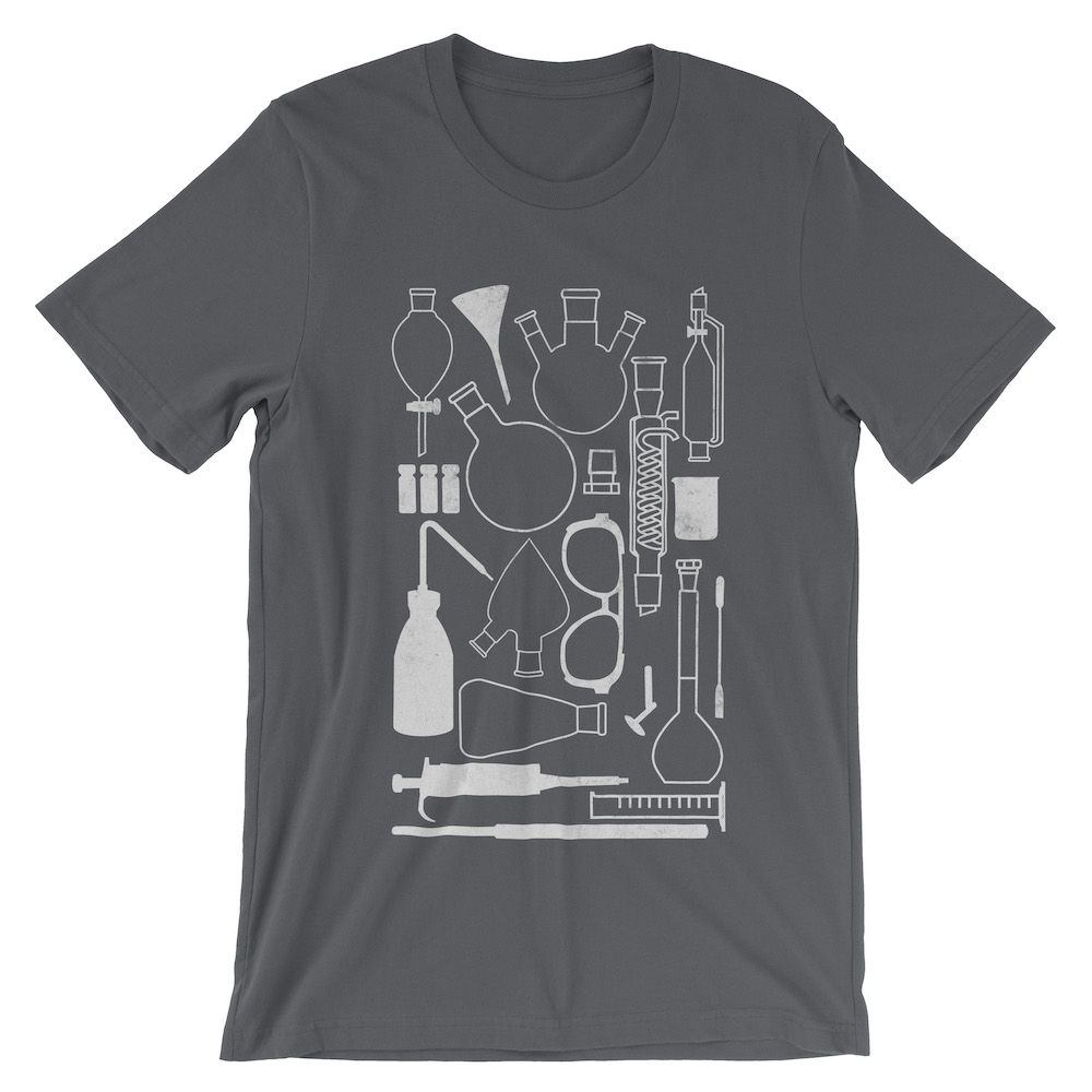 Laborgeräte-T-Shirt-Asphalt-3001