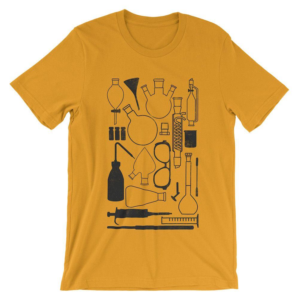 Laborgeräte-T-Shirt-Gold-B-3001