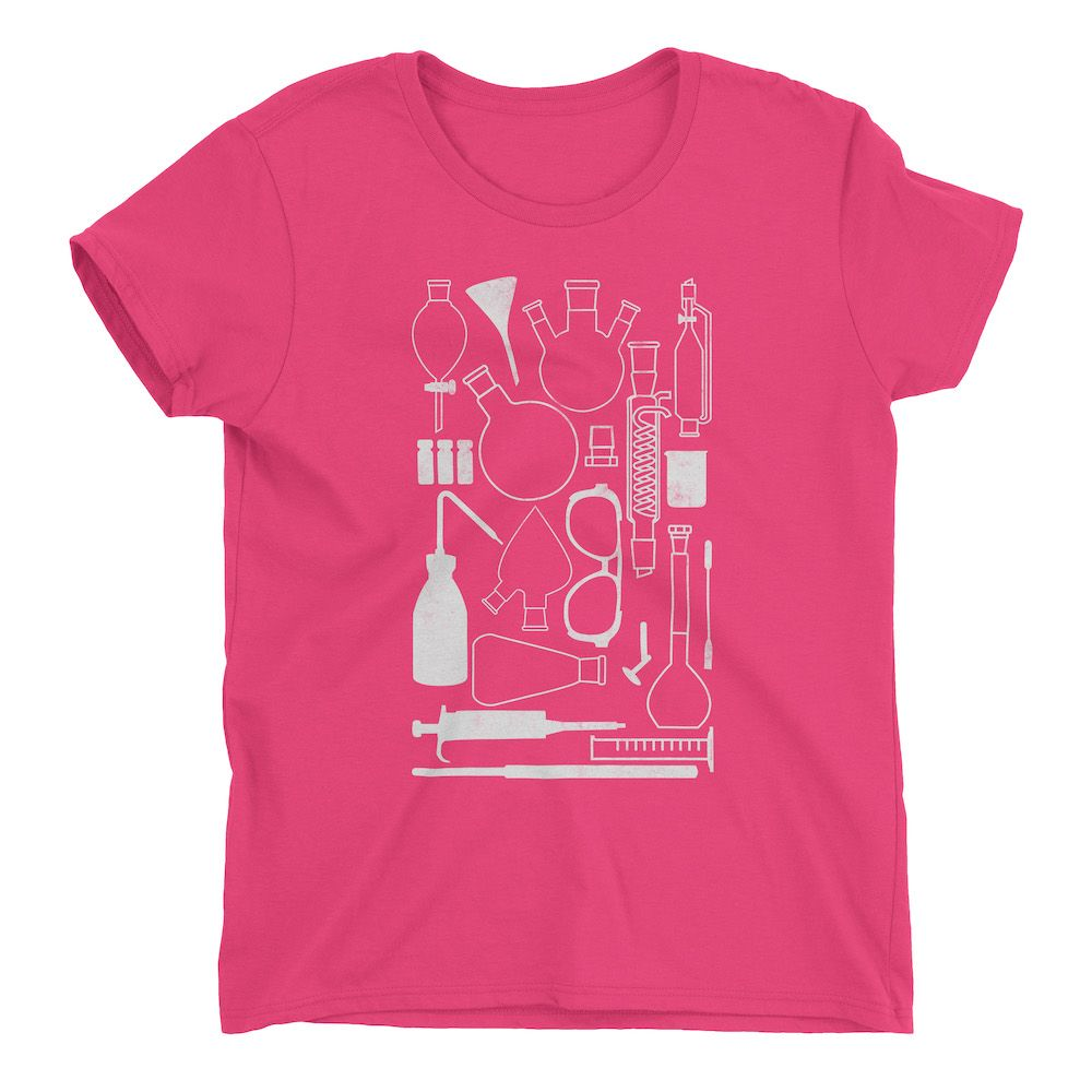 Laborgeräte-T-Shirt-Hot-Pink-880