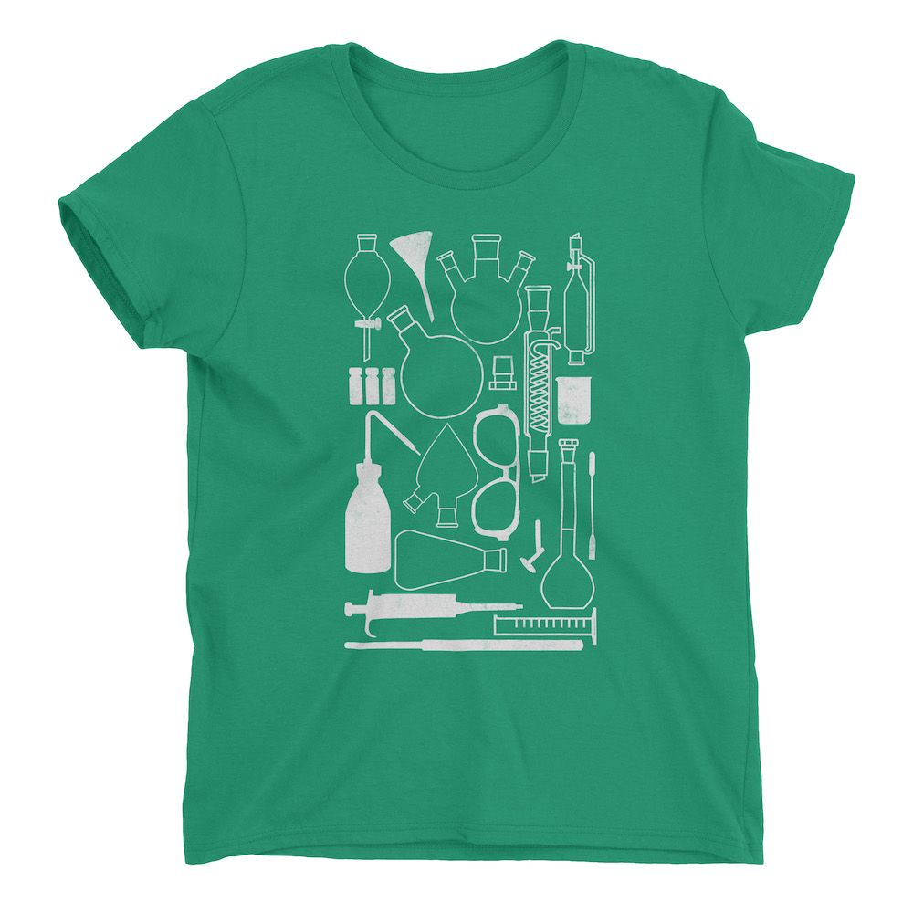 Laborgeräte-T-Shirt-Kelly-Green-880