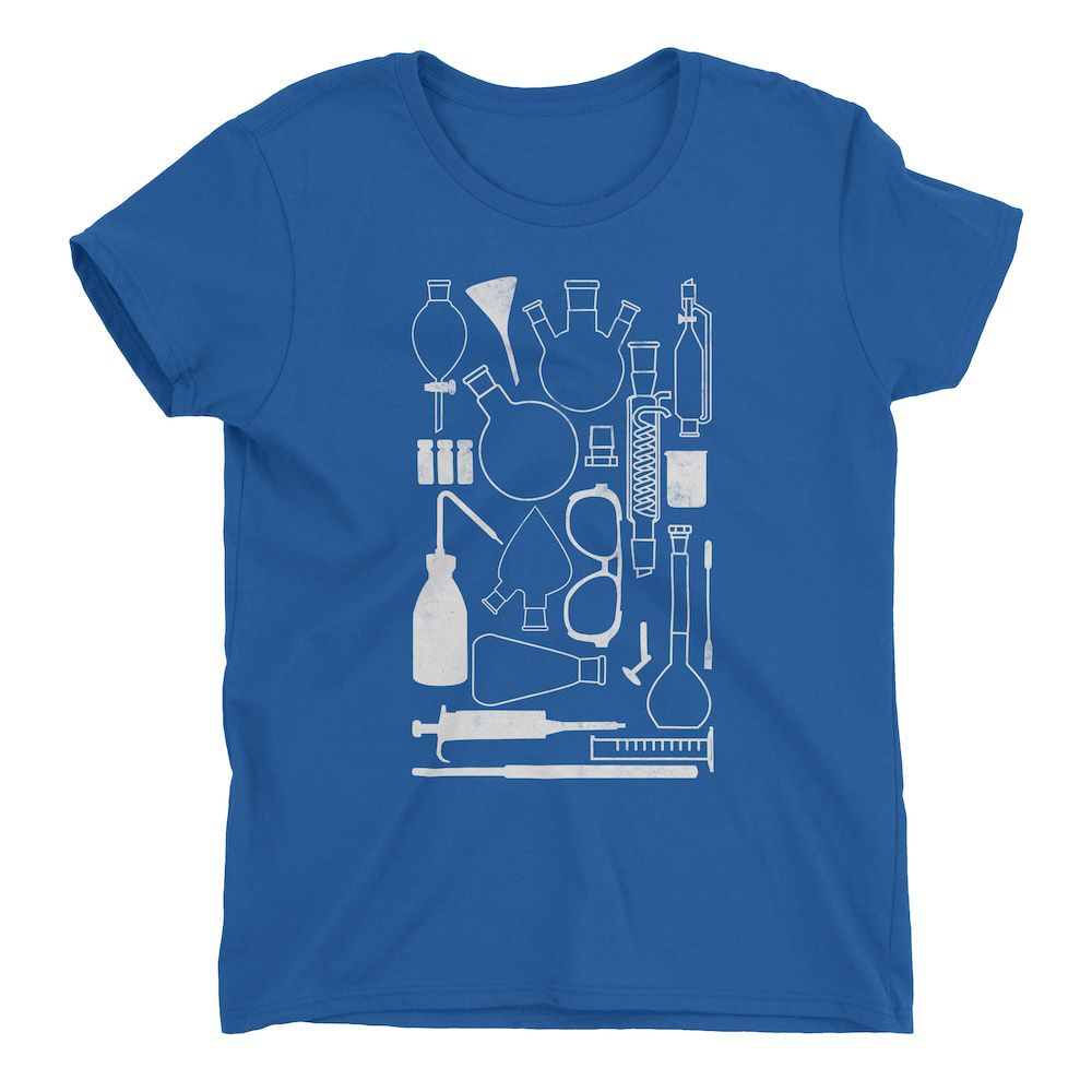 Laborgeräte-T-Shirt-Royal-Blue-880