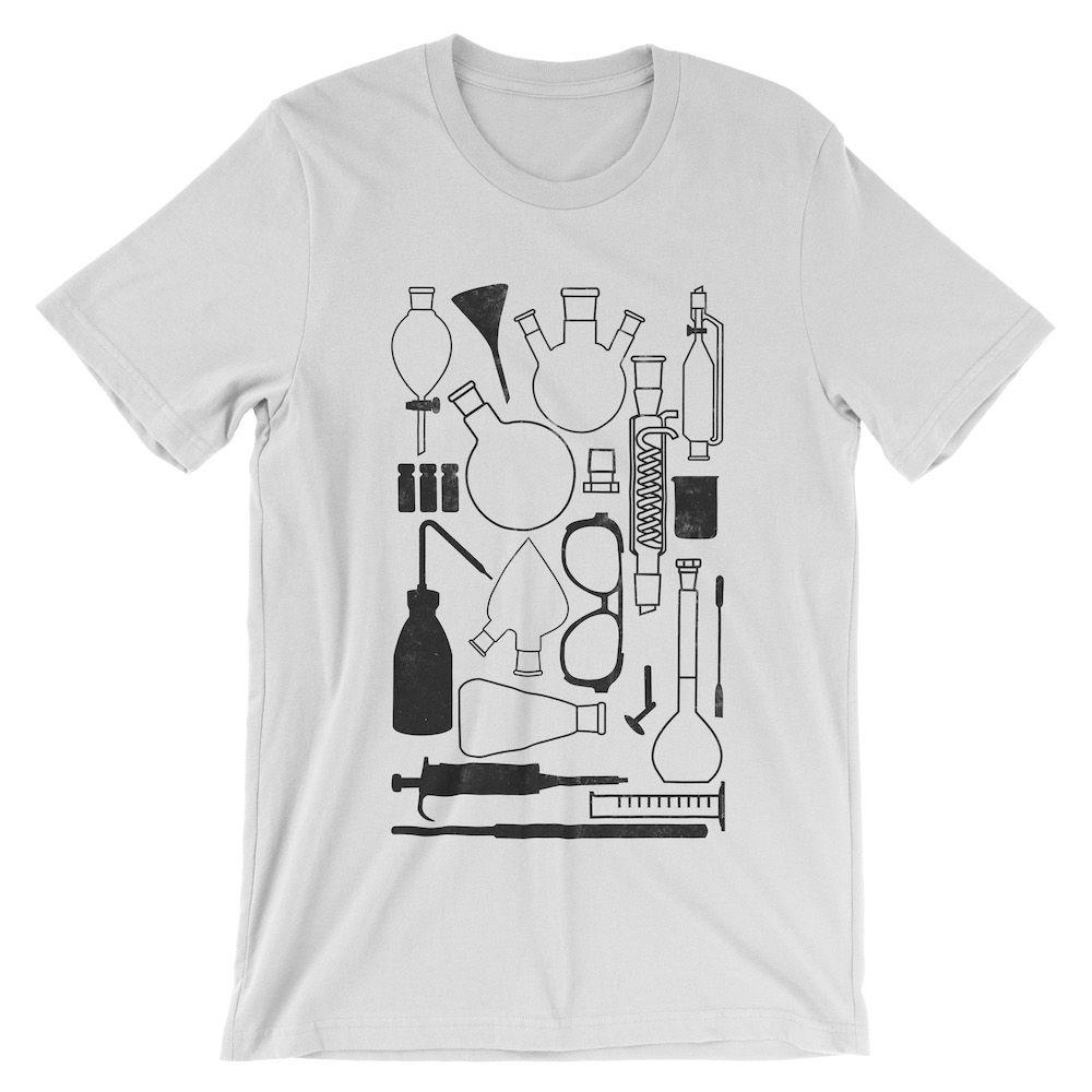 Laborgeräte-T-Shirt-White-3001