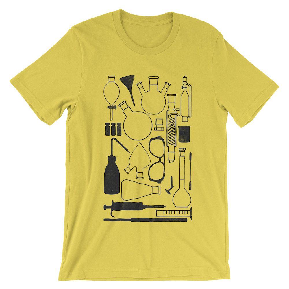 Laborgeräte-T-Shirt-Yellow-3001