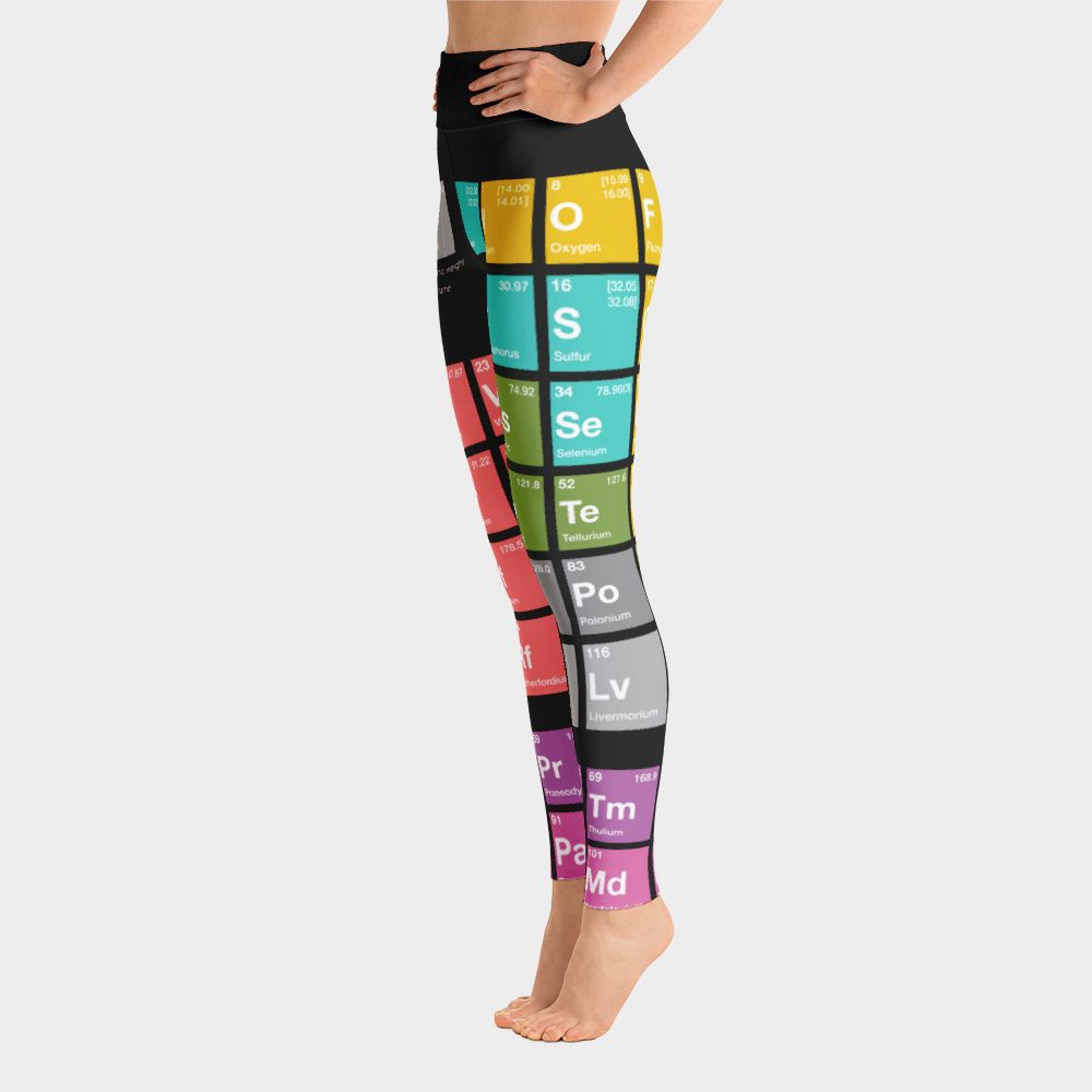 Periodensystem der Elemente Yoga Leggings