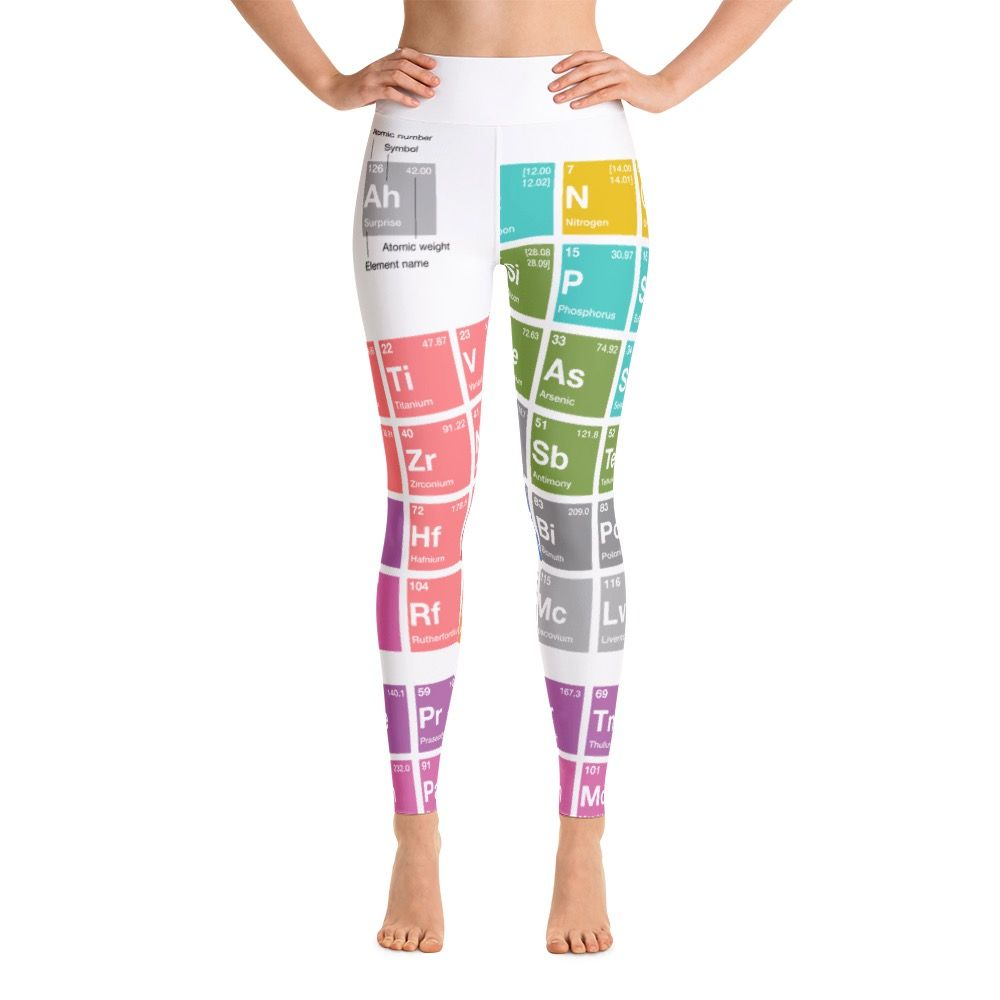 Periodensystem der Elemente Yoga Leggings Weiss