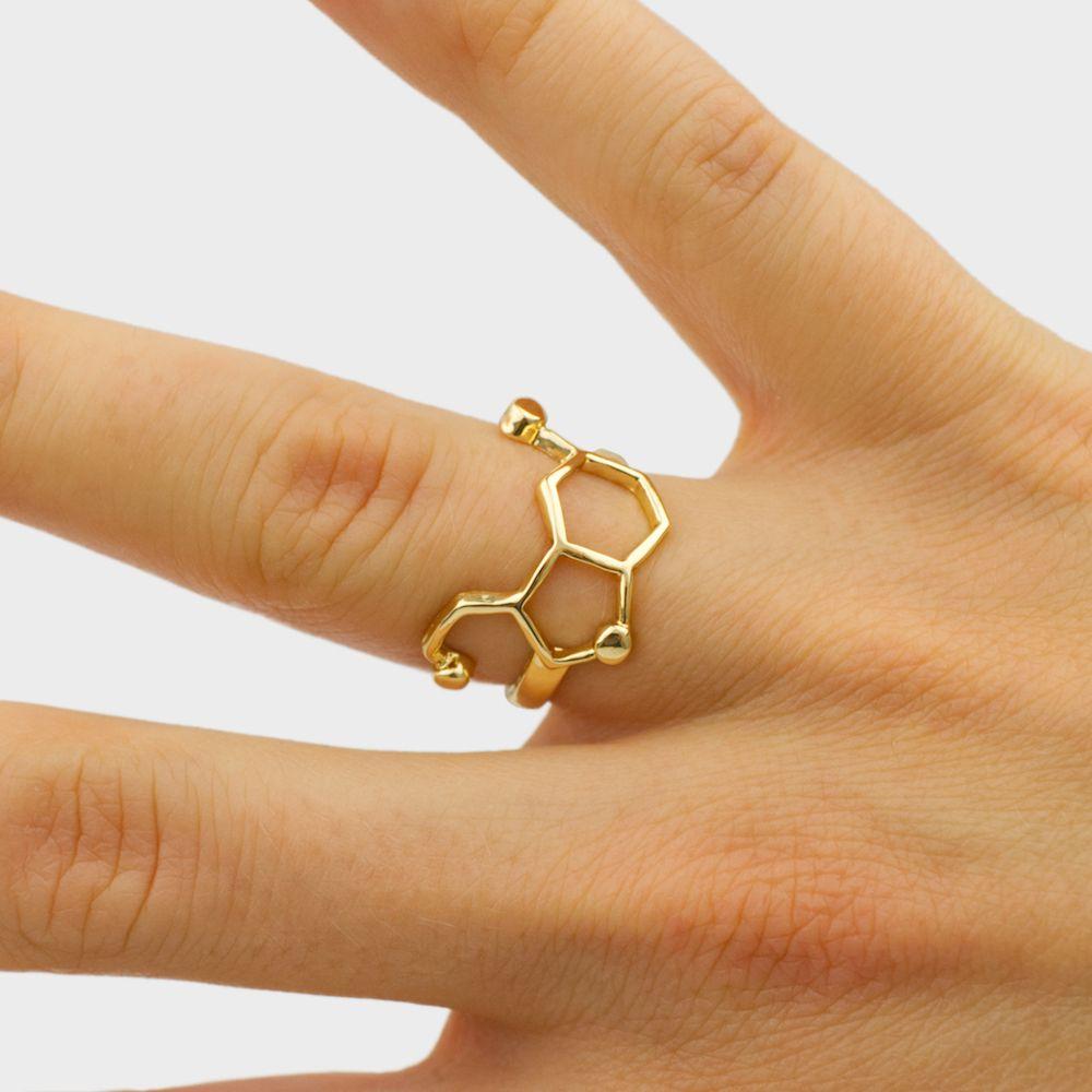 Serotonin Ring Gold