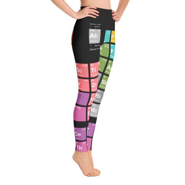 Periodensystem der Elemente (PSE) Yoga Leggings Schwarz