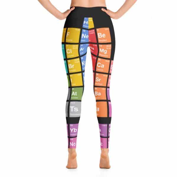 Periodensystem der Elemente Yoga Leggings Schwarz