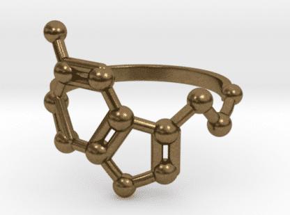 Bronze Serotonin Molekül Ring
