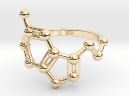 Serotonin Ring 14k Gold Molekül