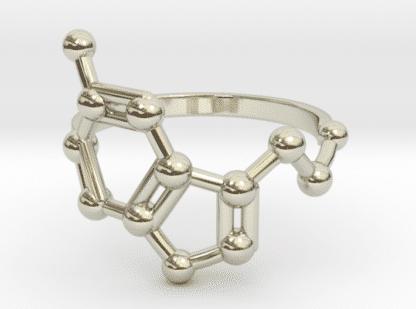 Serotonin Ring Weissgold