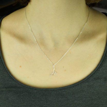 Serotonin Molekül Halskette