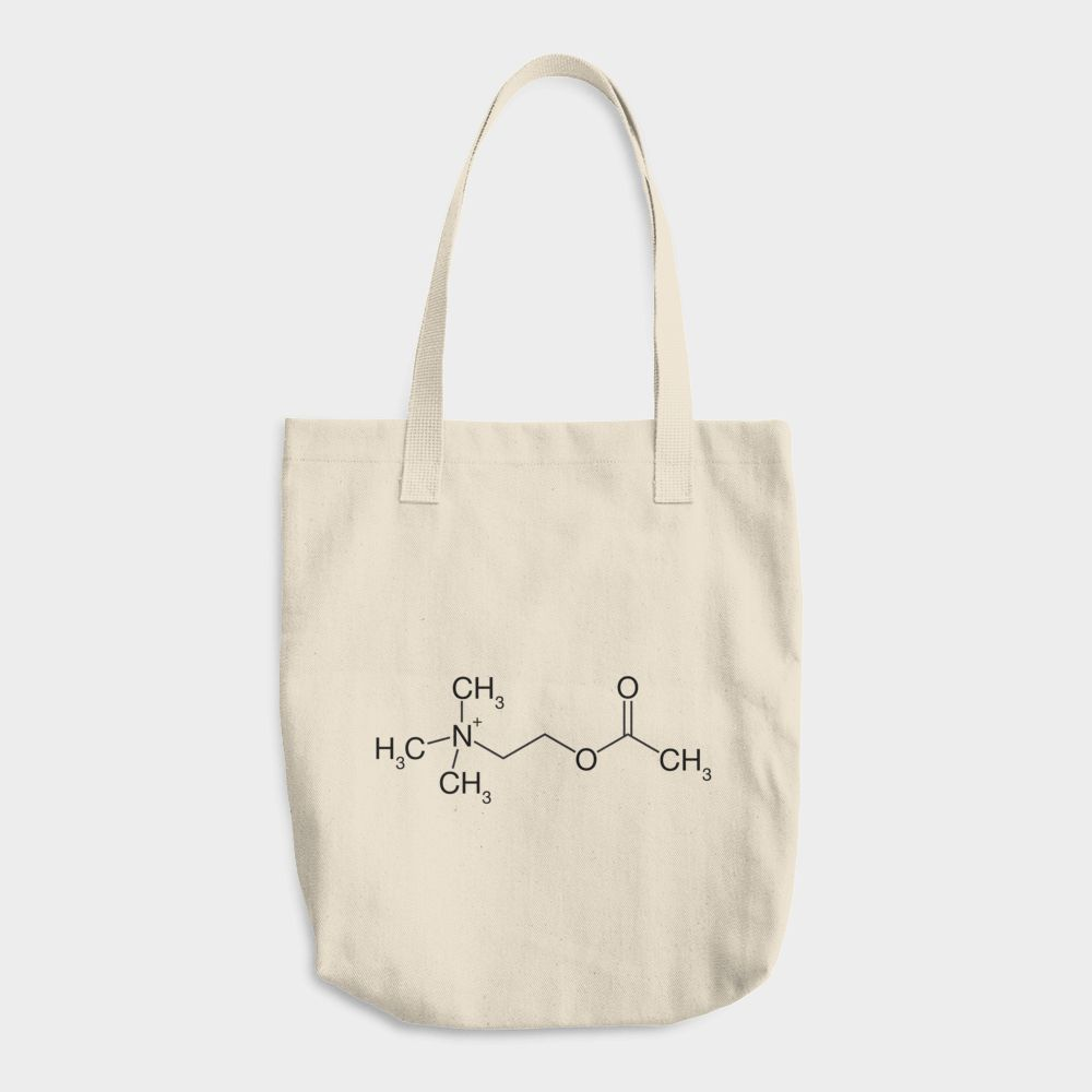 Acetylcholine Molecule Cotton Tote Bag