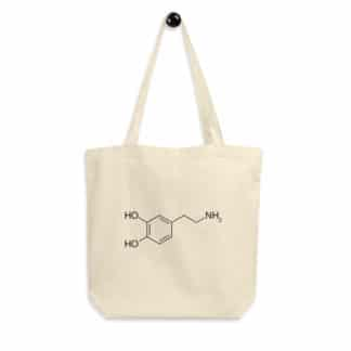 Organic Tote Bag Dopamine Molecule