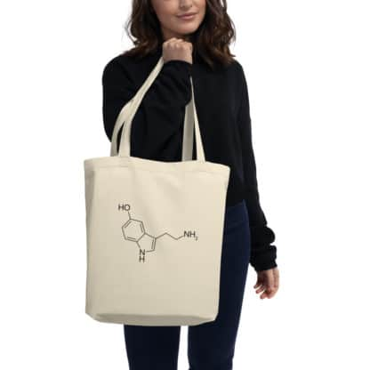 Serotonin Molecule Eco Tote Bag model
