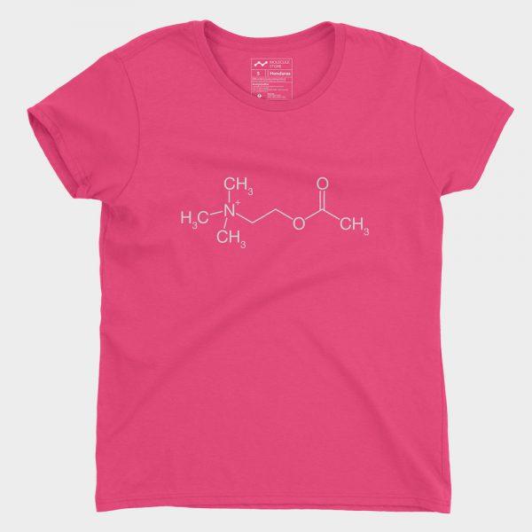 Acetylcholin Molecule T-Shirt Hot Pink 880