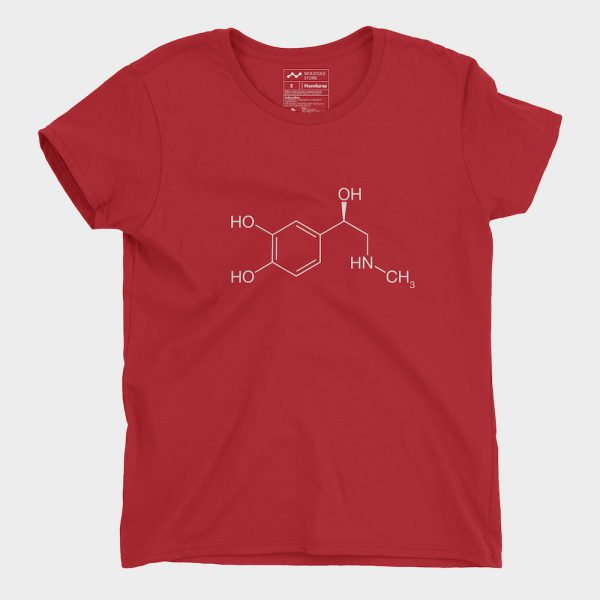 Adrenaline Molecule T-Shirt Ladies Red