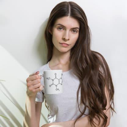 Caffeine molecule mug model