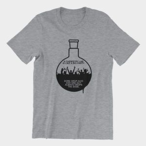 Chemistry Lab Party Flask T-Shirt Athletic Heather