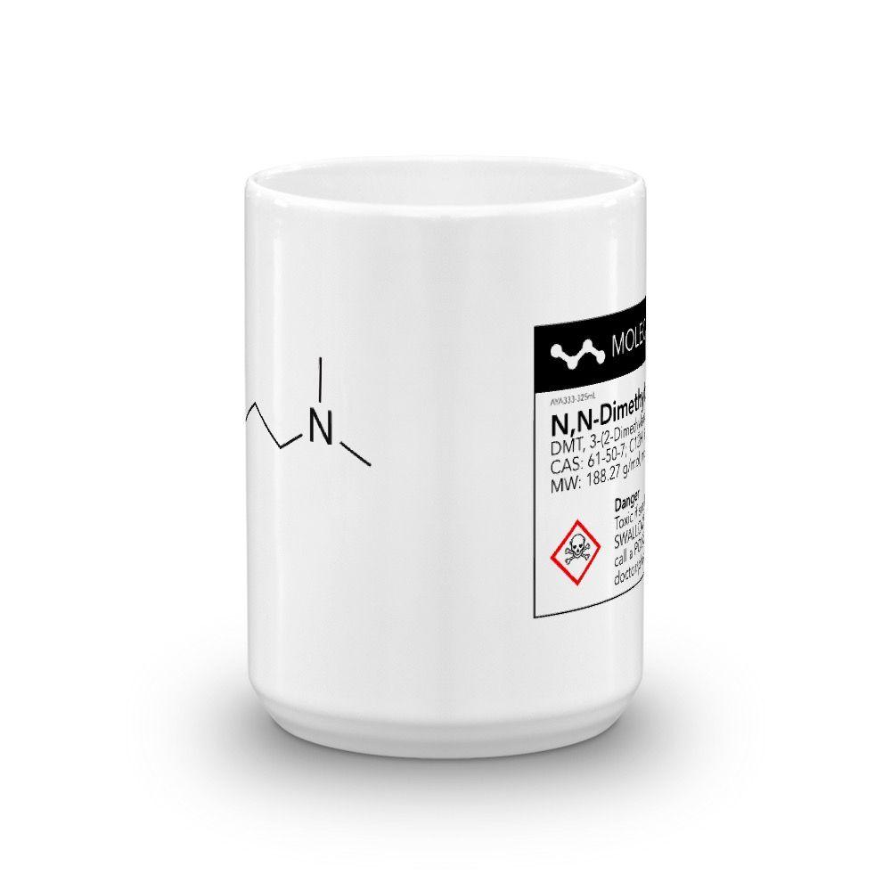 DMT Molecule White Mug Front View 15oz