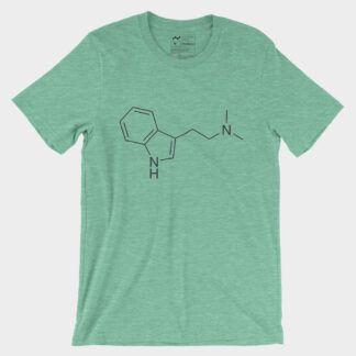 DMT Molecule T-Shirt Heather Mint