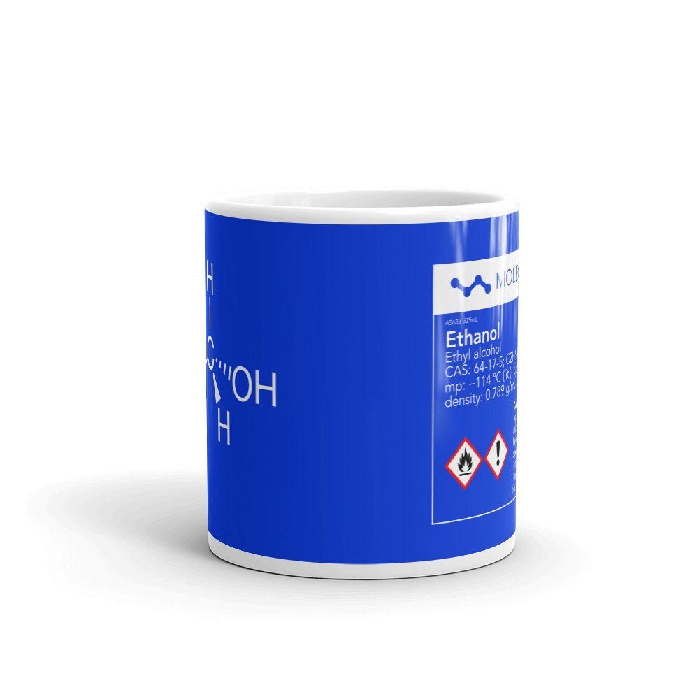 Ethanol Molecule Blue Mug 11oz Front View