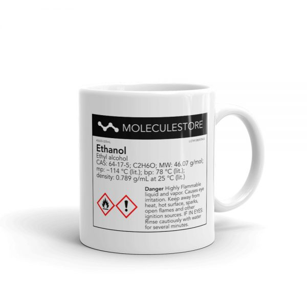Ethanol Intoxicated White Mug 11oz Handle on Right