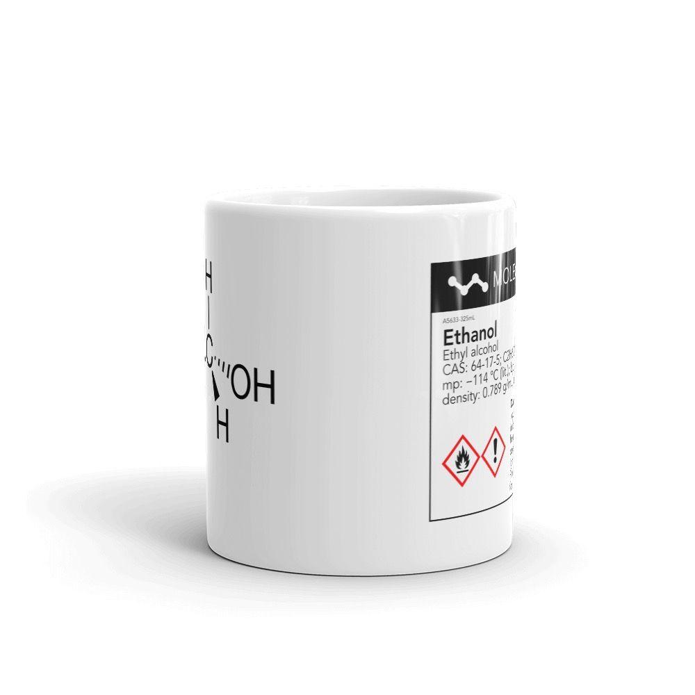 Ethanol White Mug 11oz Front View