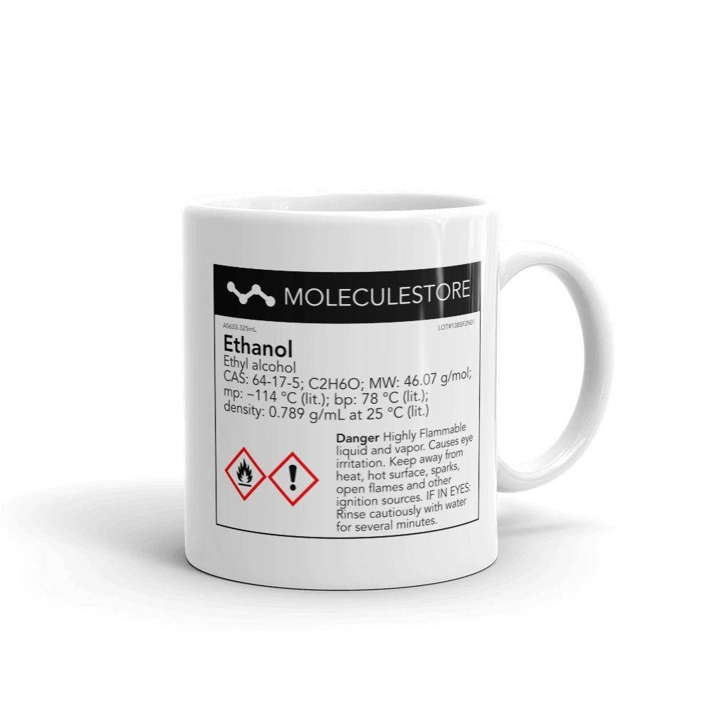 Ethanol White Mug 11oz Handle on Right