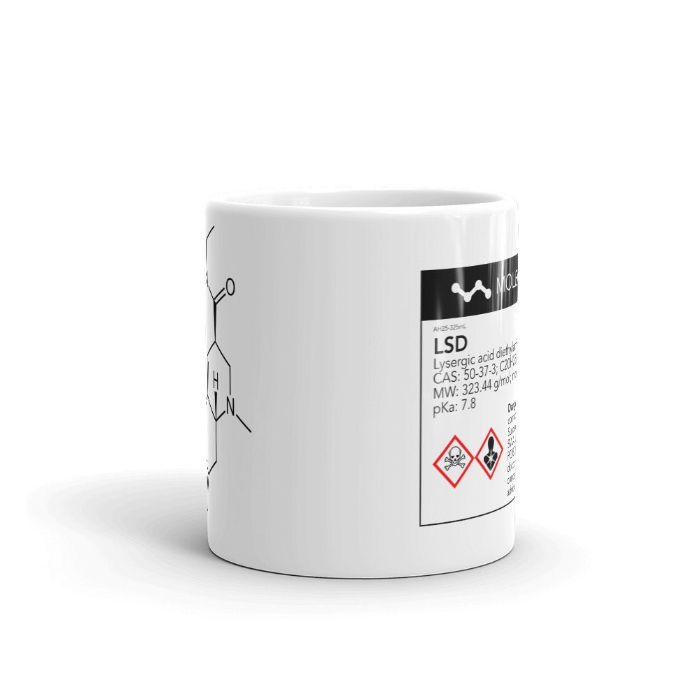 LSD Molecule White Mug Center