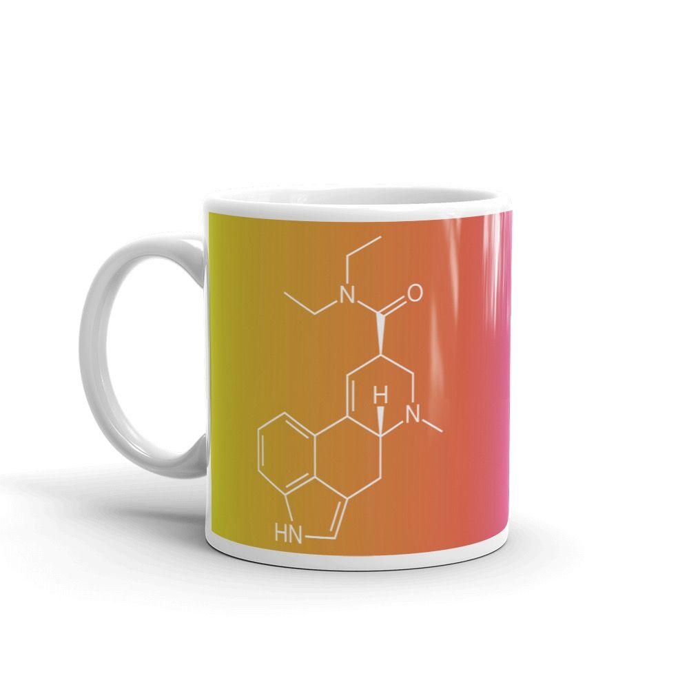 LSD CRAZY Molecule Mug Handle-on-Left