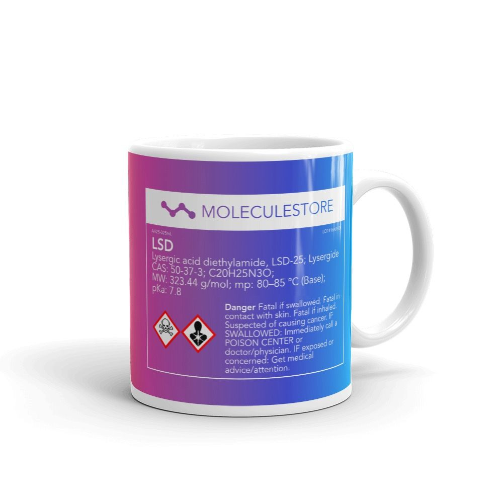 LSD CRAZY Molecule Mug Handle-on-Right