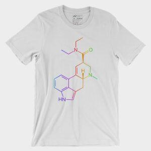 LSD Molecule Colorful T-Shirt White