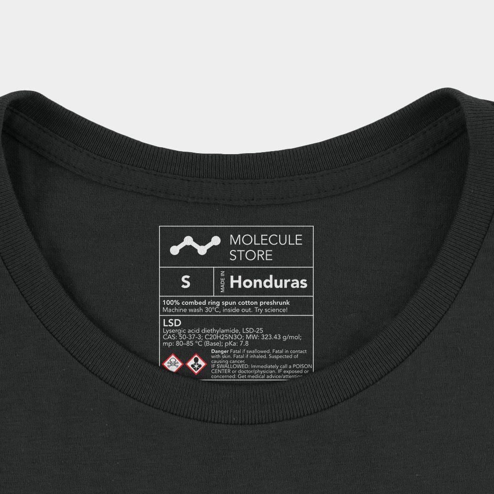 LSD Molecule T-Shirt Black Chemical Inside Label
