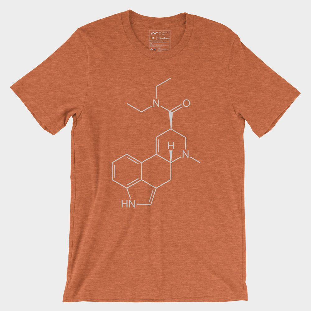 LSD Molecule T-Shirt Heather Orange