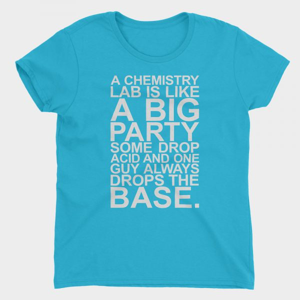 Chemistry Lab Party T-Shirt Caribbean Blue 880