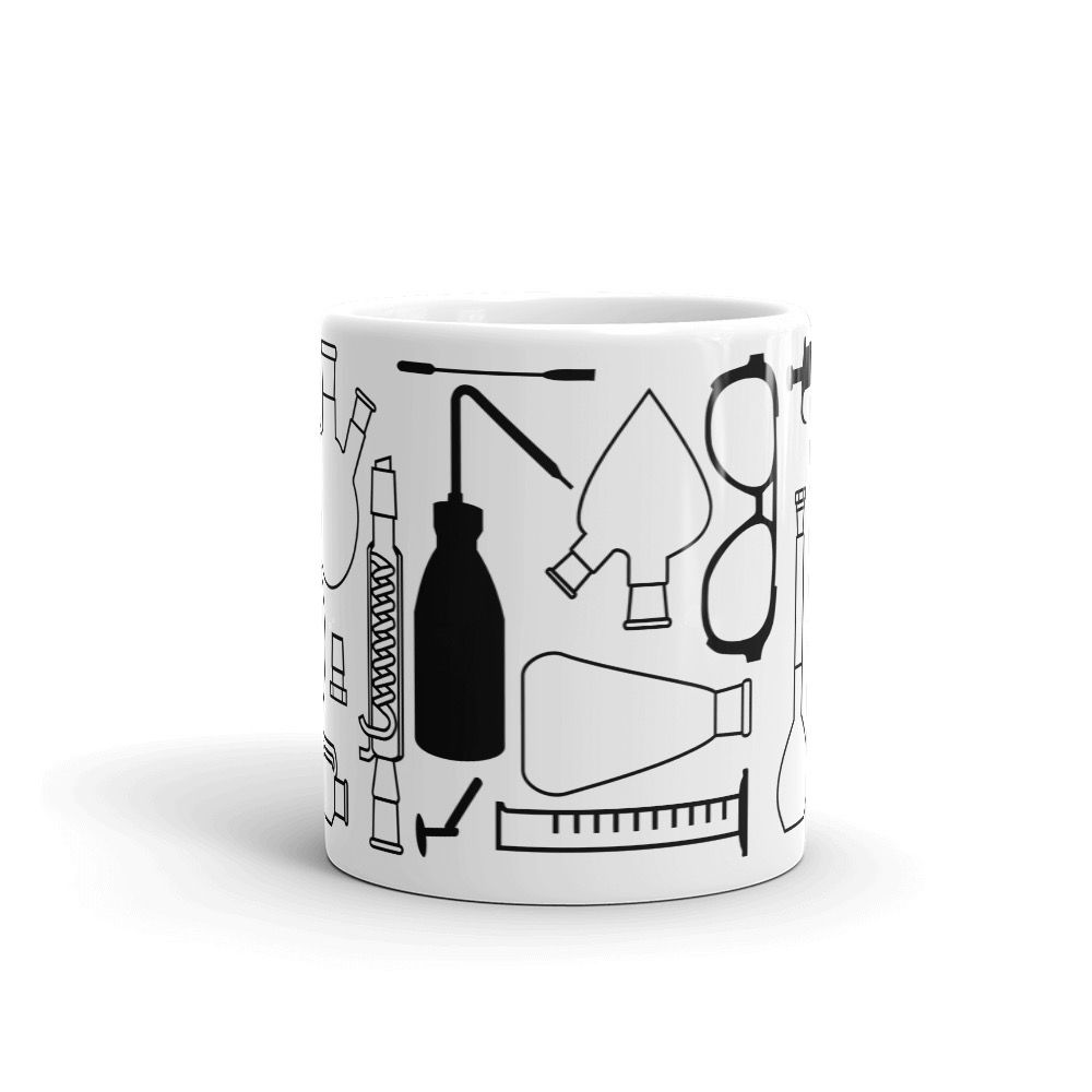Lab Stuff Black Mug 11oz Front-View