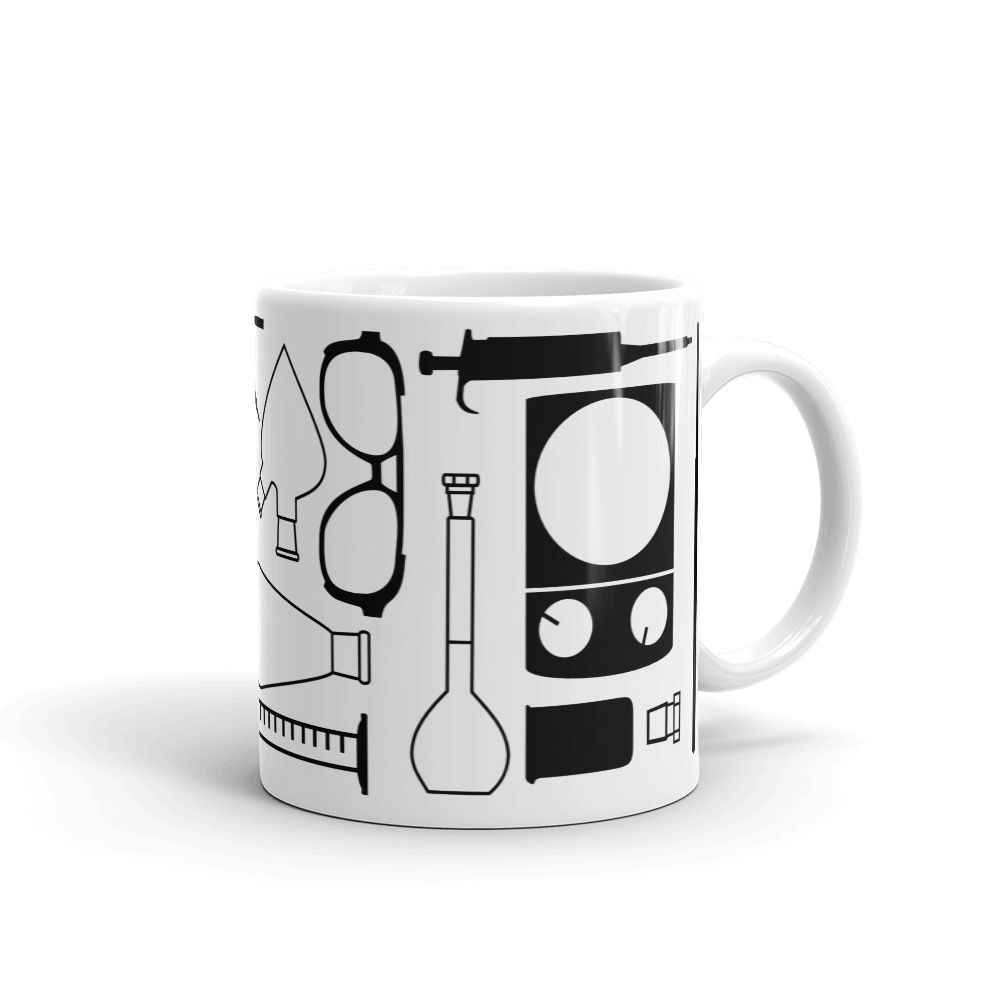 Lab Stuff White Mug 11oz Handle-on-Right