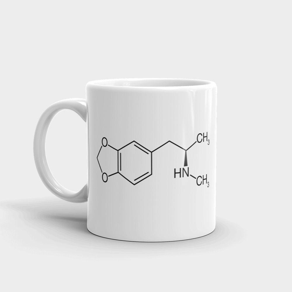 MDMA Molecule Mug White