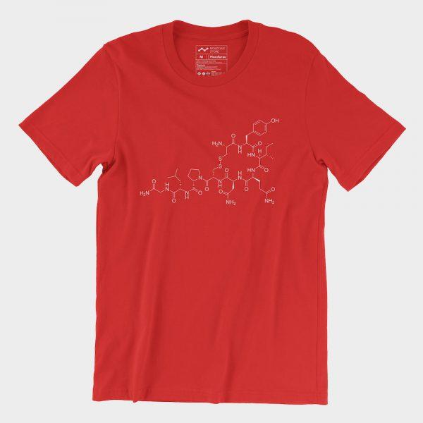 Oxytocin Molecule T-Shirt Red