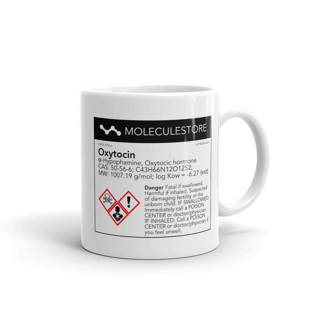 Oxytocin Molecule Mug White Right