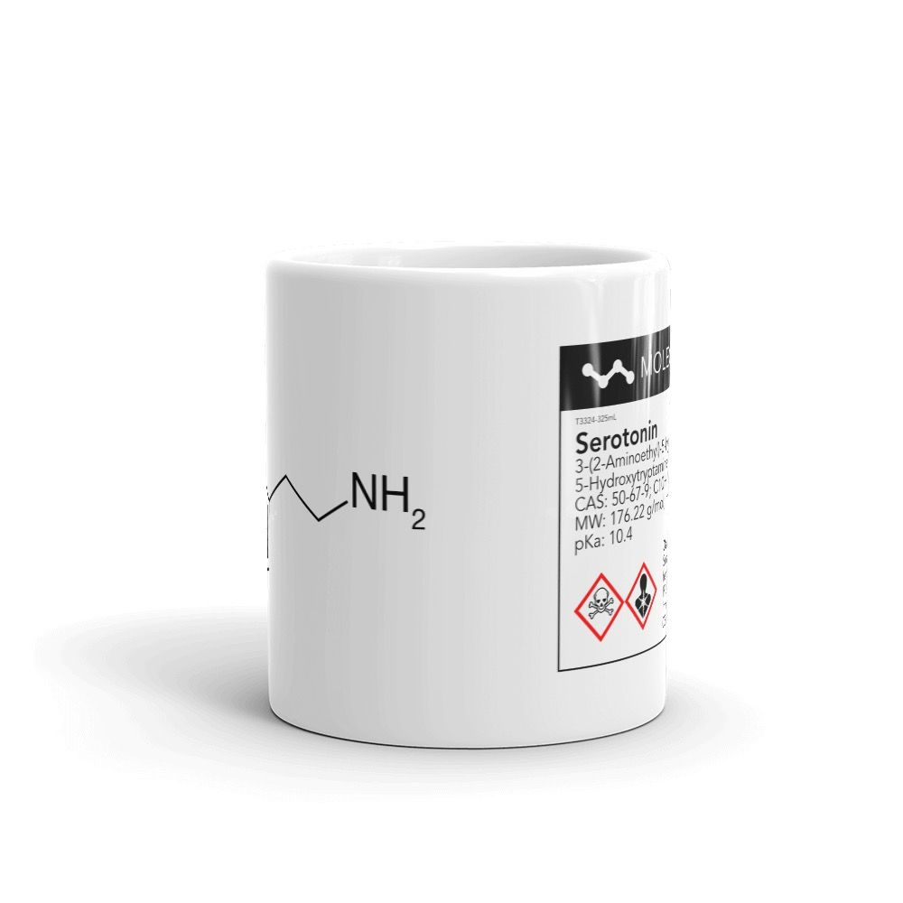 Serotonin White Mug Front View
