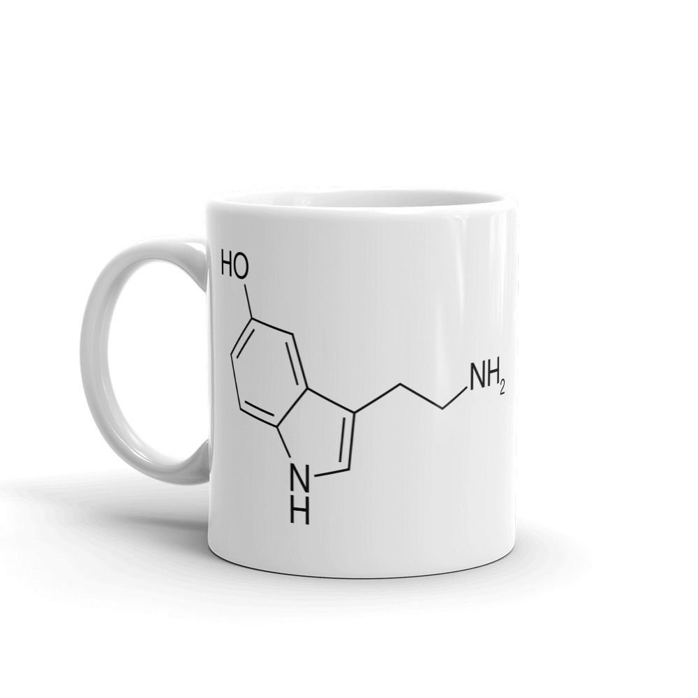 Serotonin White Mug Handle on Left