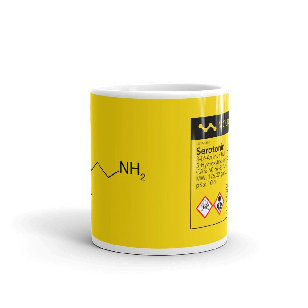 Serotonin Yellow Mug Front View