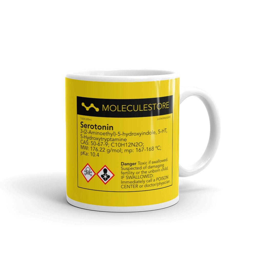 Serotonin Yellow Mug Handle on Right