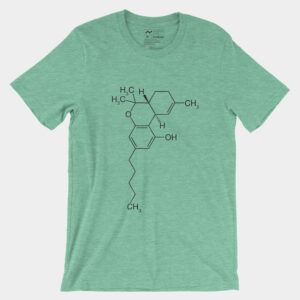 THC Molecule T-Shirt Heather Mint 3001