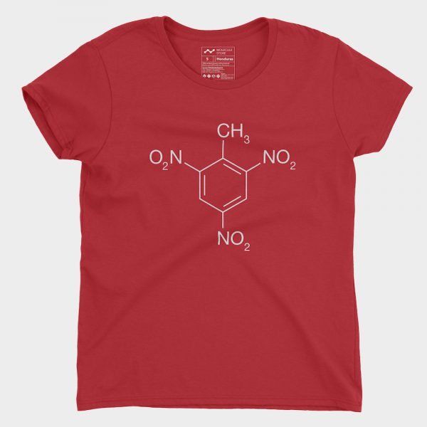TNT Molecule T-Shirt Red Ladies